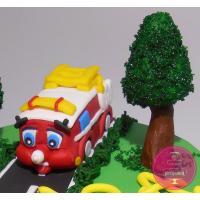 Торт Детский С пожарной машиной