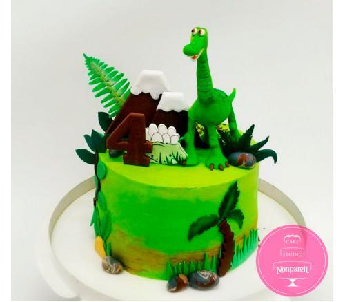 Торт Детский Добрый динозавр