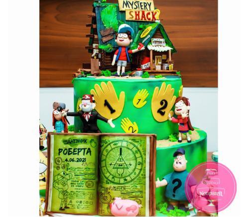 Торт Детский Гравити фолз 3