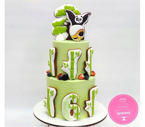 Торт Детский Панда Кунг-фу