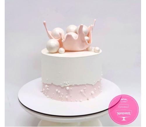 Торт Праздничный с Вазой и шарами 1