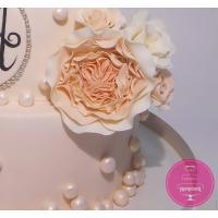 Торт Свадебный Персиковый с цветами