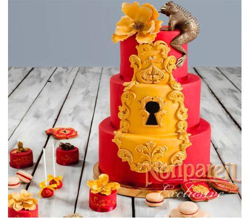 Торт Свадебный Цвета марсала