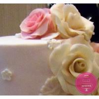 Торт Свадебный Розовые розы