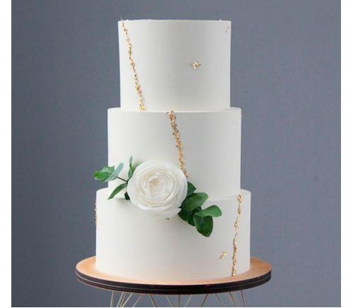 Торт Свадебный с белой розой