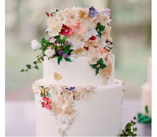 Торт Свадебный Цветочный 1